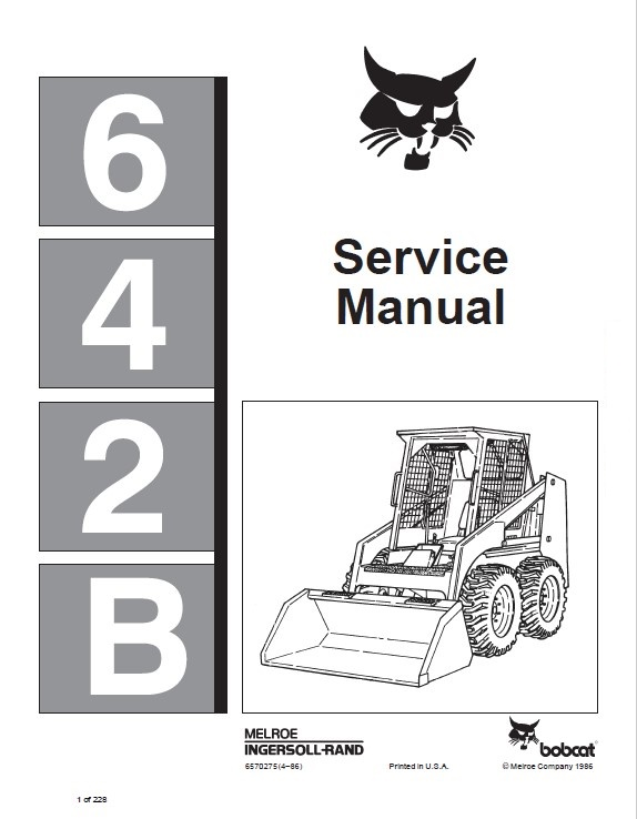 Bobcat 642b Skid Steer Loader Service Manual Pdf