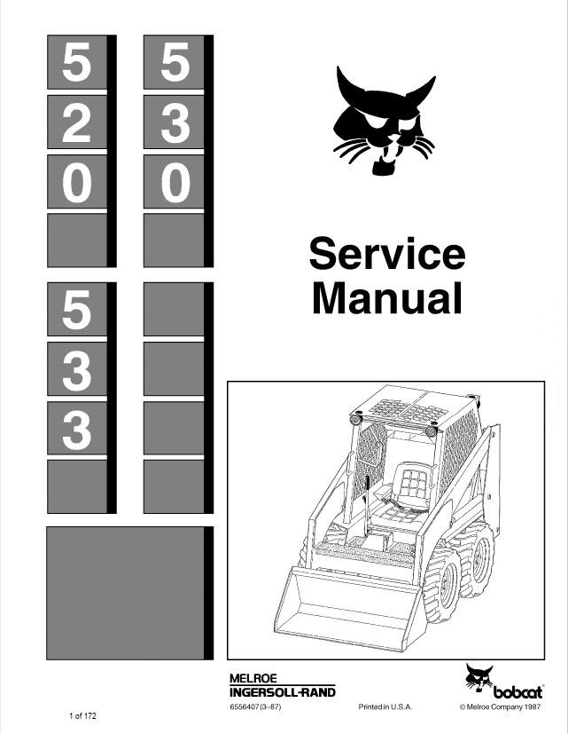Bobcat 520  530  533 Loaders Service Manual Pdf