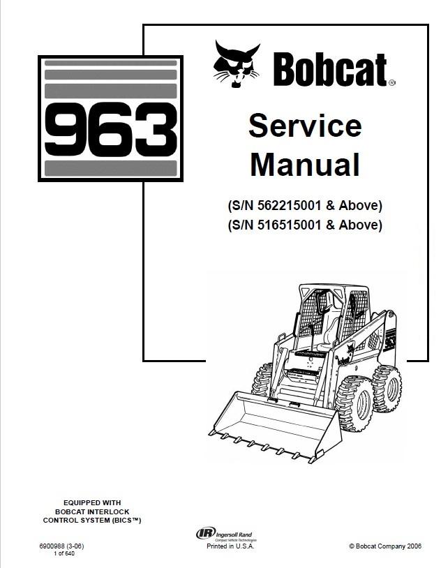 Bobcat 963 Manual