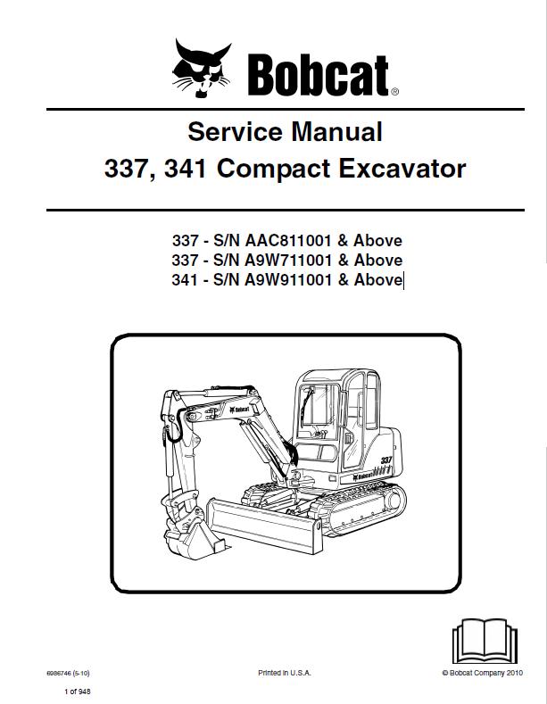 341 bobcat Manual excavator