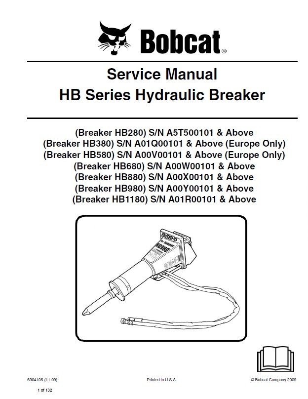 bobcat hb series hydraulic breaker service manual pdf. Black Bedroom Furniture Sets. Home Design Ideas