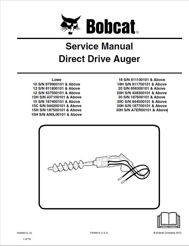 30 Bobcat 15c Auger Parts Diagram