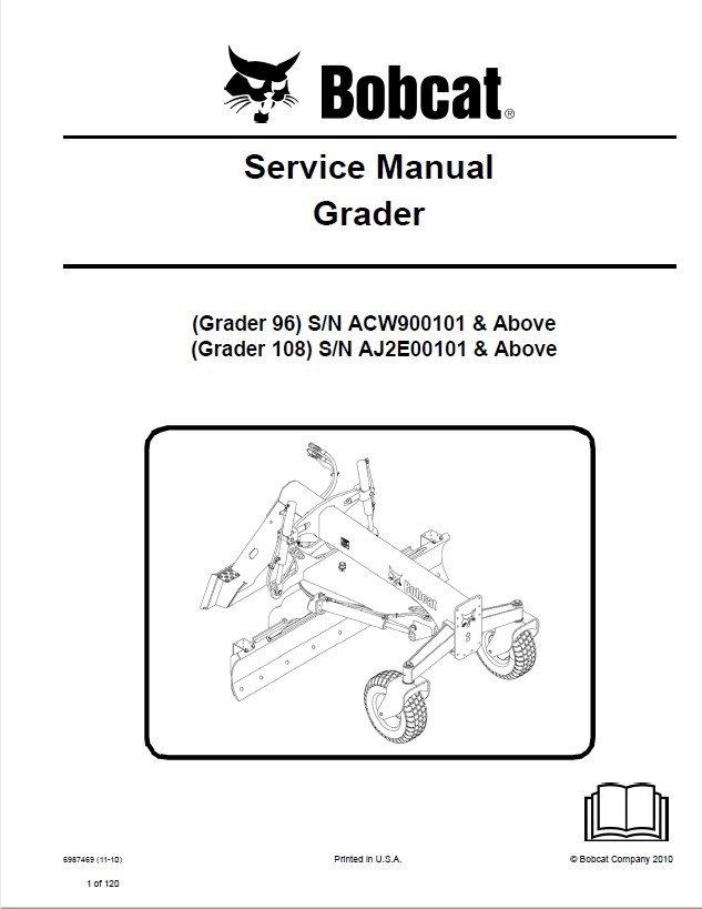 Bobcat Grader 96  108 Service Manual Pdf
