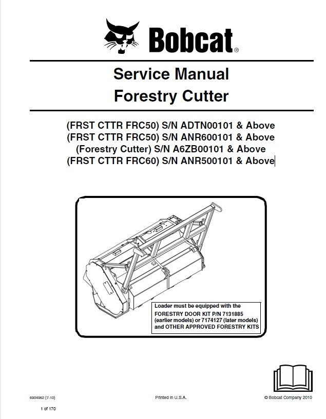 Bobcat Frst Cttr Forestry Cutter Service Manual Pdf