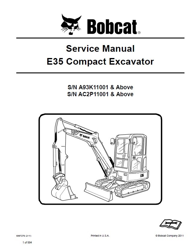 bobcat e35 compact excavator service manual pdf. Black Bedroom Furniture Sets. Home Design Ideas