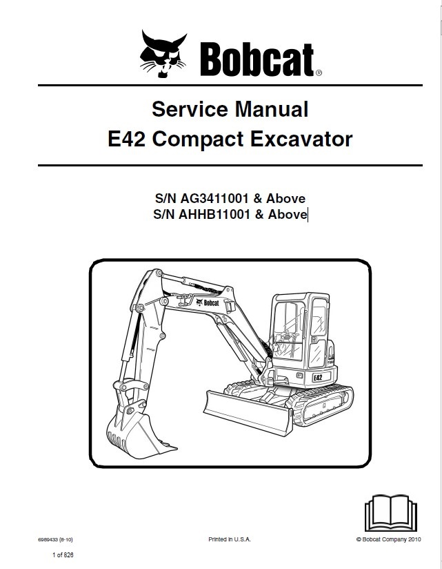 bobcat e42 compact excavator service manual pdf. Black Bedroom Furniture Sets. Home Design Ideas