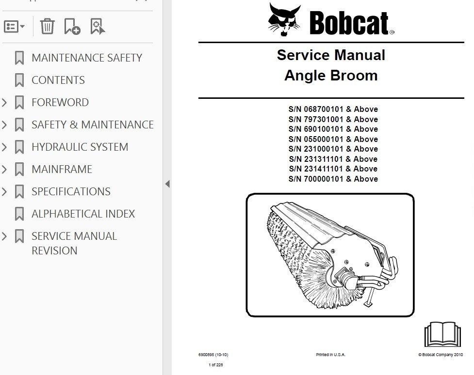 bobcat angle broom service manual pdf snow sweeper broom wiring diagram bobcat angle broom #6