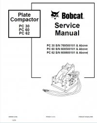 bobcat pc30 pc60 pc62 plate compactor service manual. Black Bedroom Furniture Sets. Home Design Ideas