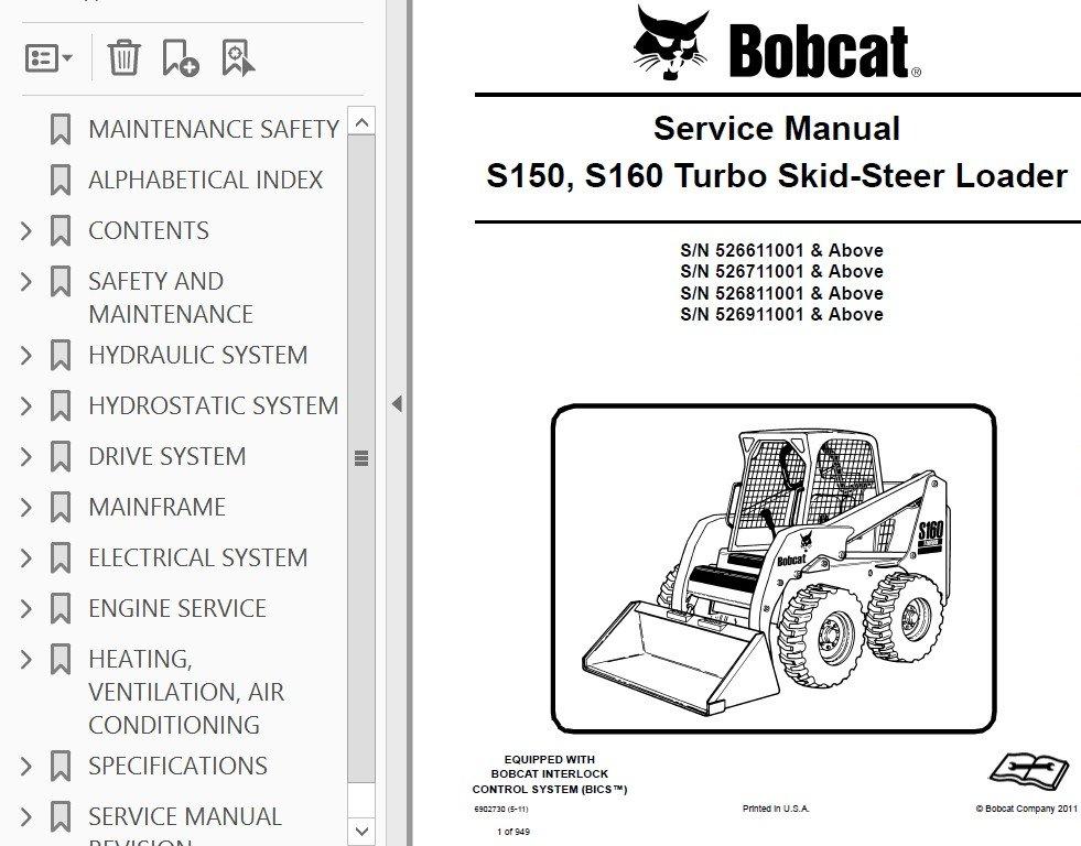 s160 bobcat wiring diagram schematics wiring diagrams u2022 rh seniorlivinguniversity co Bobcat 773 Wiring Schematic Bobcat Hydraulic Diagram
