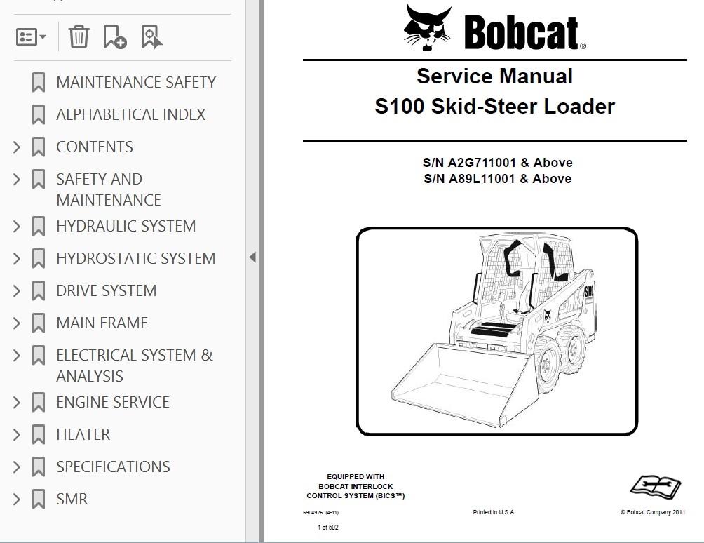 Bobcat S100 Wiring Diagrams | Wiring Diagram