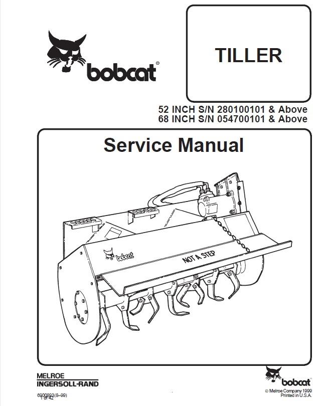Bobcat 52 Inch  68 Inch Tiller Service Manual Pdf