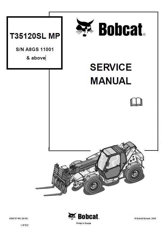 bobcat t35120sl mp telescopic handler service manual pdf. Black Bedroom Furniture Sets. Home Design Ideas