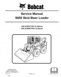 bobcat s650 skid steer loader service manual pdf. Black Bedroom Furniture Sets. Home Design Ideas