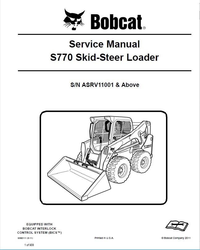 bobcat s770 skid steer loader service manual pdf rh epcatalogs com bobcat s770 operators manual bobcat s770 service manual pdf