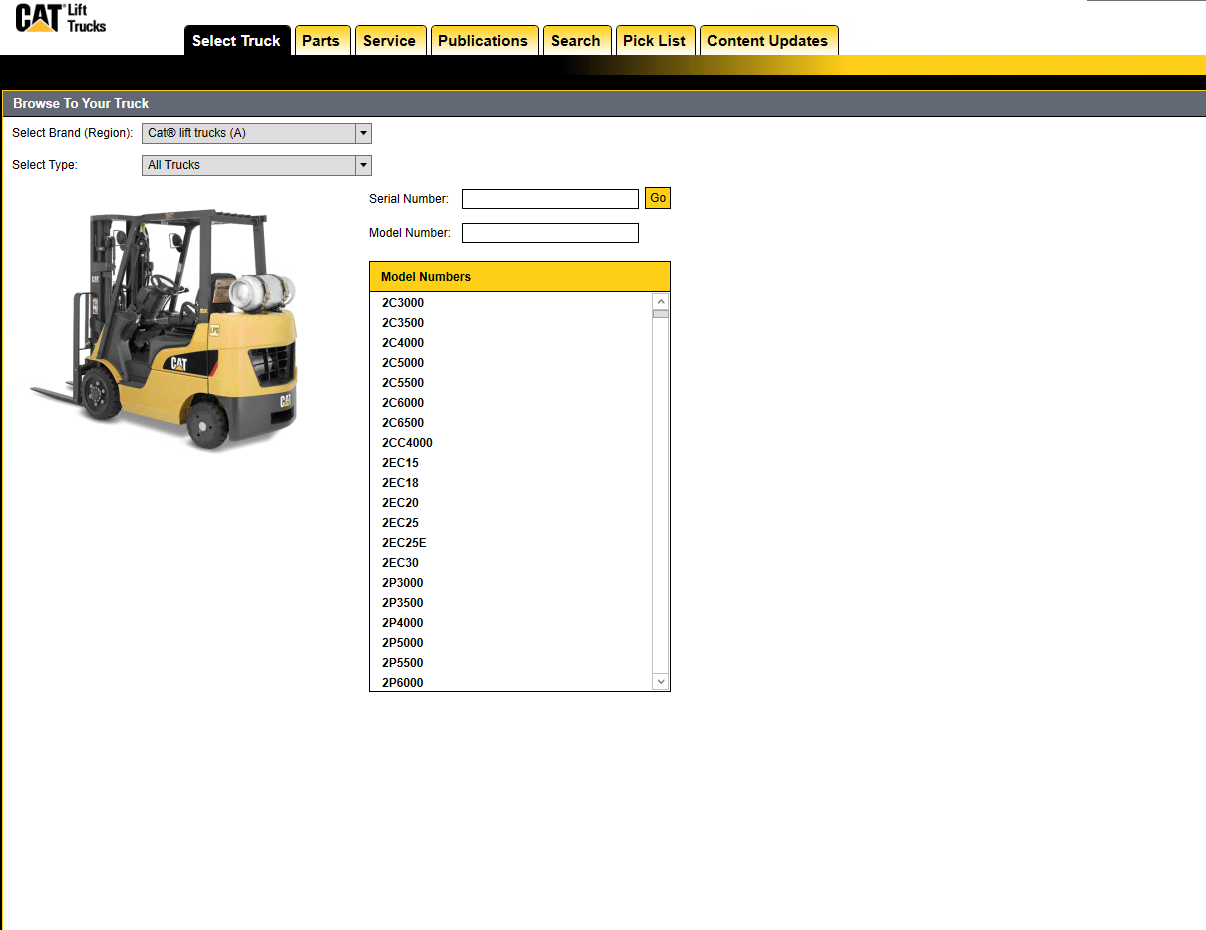 caterpillar lift trucks 2018 mcfa usa parts and service information rh epcatalogs com Caterpillar Lift Truck Manuals Caterpillar Lift Truck Manuals
