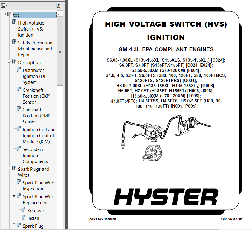 H80 Hyster manual