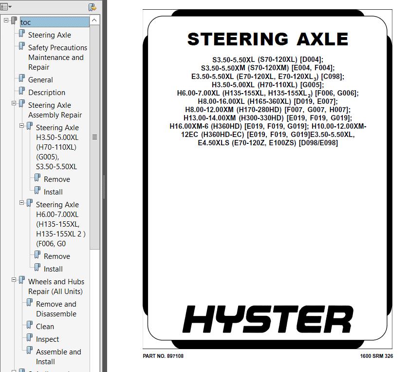 hyster class 5 e019 internal combustion engine trucks pdf