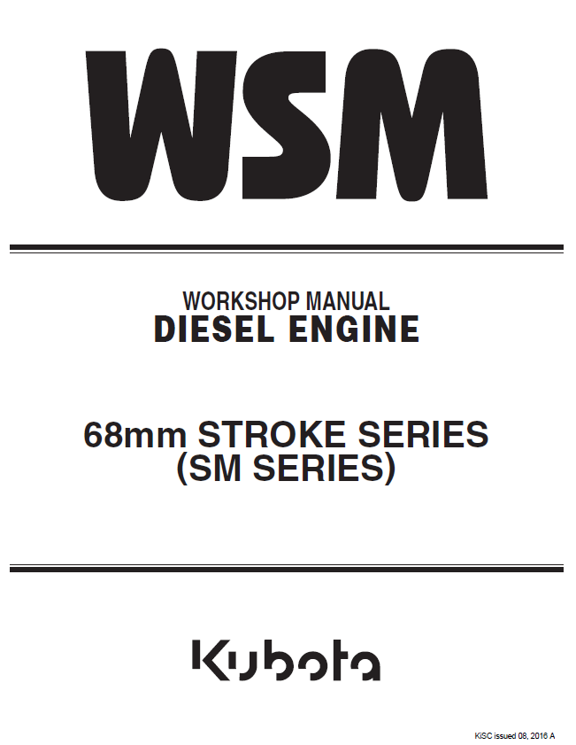 Kubota 68mm Stroke Sm Series Engine Wm Pdf 9y011