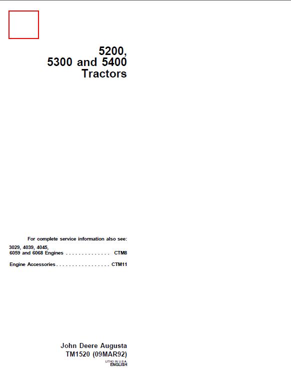 john deere 5200 5300 5400 tractors tm1520 technical manual pdf john deere 5200 5300 5400 tractors tm1520 technical manual pdf john deere 5300 wiring diagram at gsmx.co