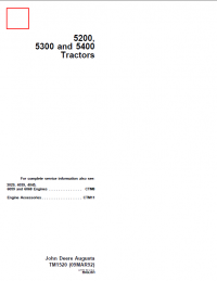john deere 5200 5300 5400 tractors tm1520 pdf rh epcatalogs com  john deere 5200 tractor wiring diagram