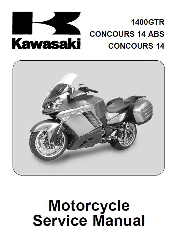 Kawasaki Motorcycles 1400GTR, Concours 14 ABS, 14 Service Manual PDF
