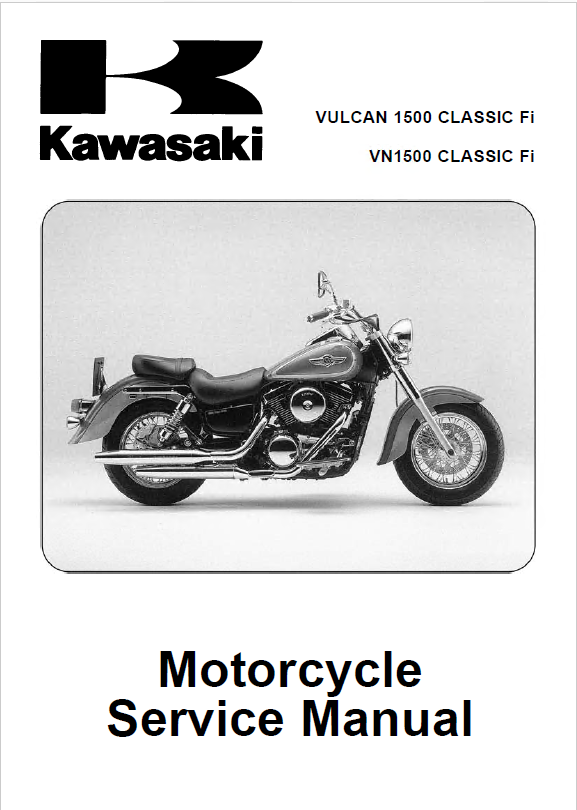 kawasaki vulcan 1500 vn 1500 classic fi motorcycle pdf. Black Bedroom Furniture Sets. Home Design Ideas