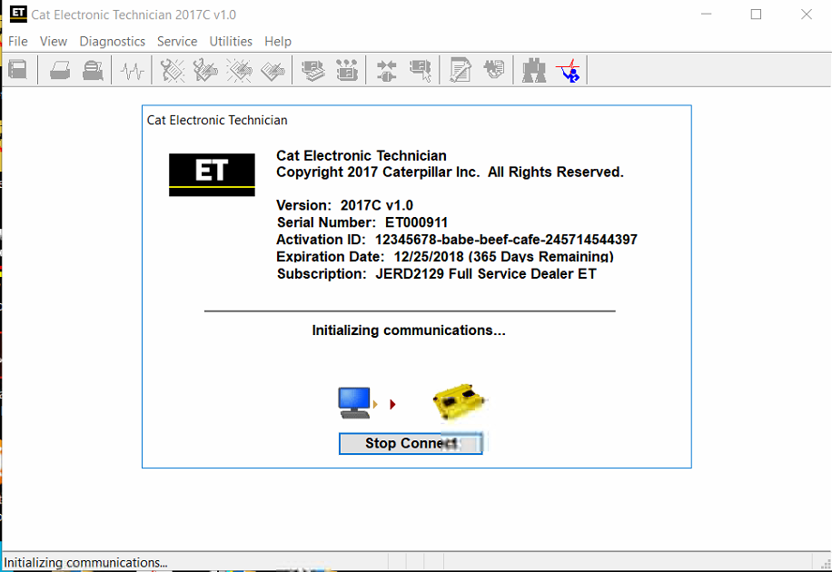 caterpillar electronic technician 2017c diagnostic software download rh epcatalogs com Caterpillar ET Software License Caterpillar ET Software License