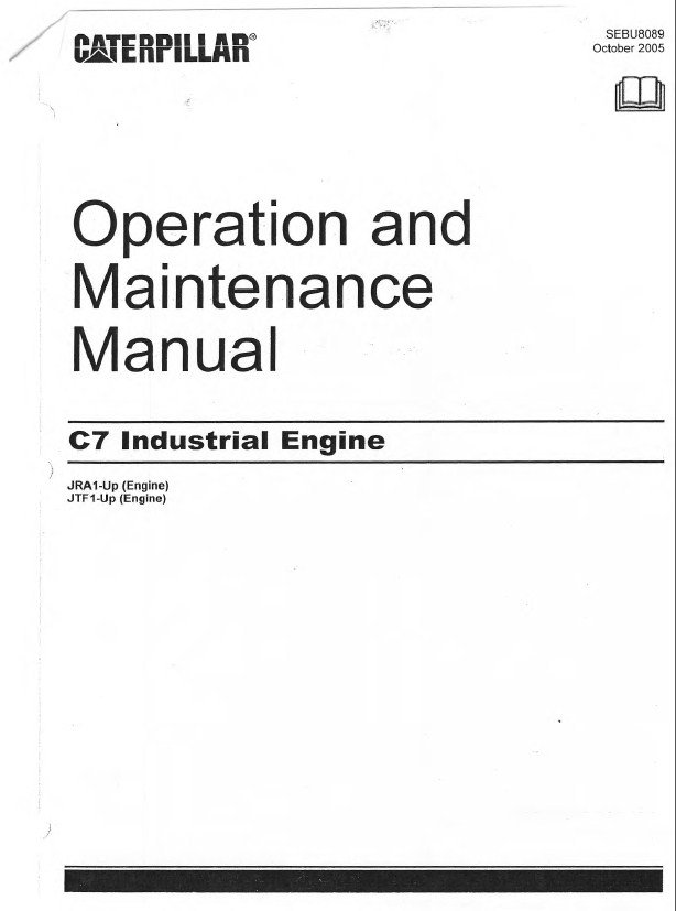Caterpillar C7 Engine Operation Maintenance Manual Pdf