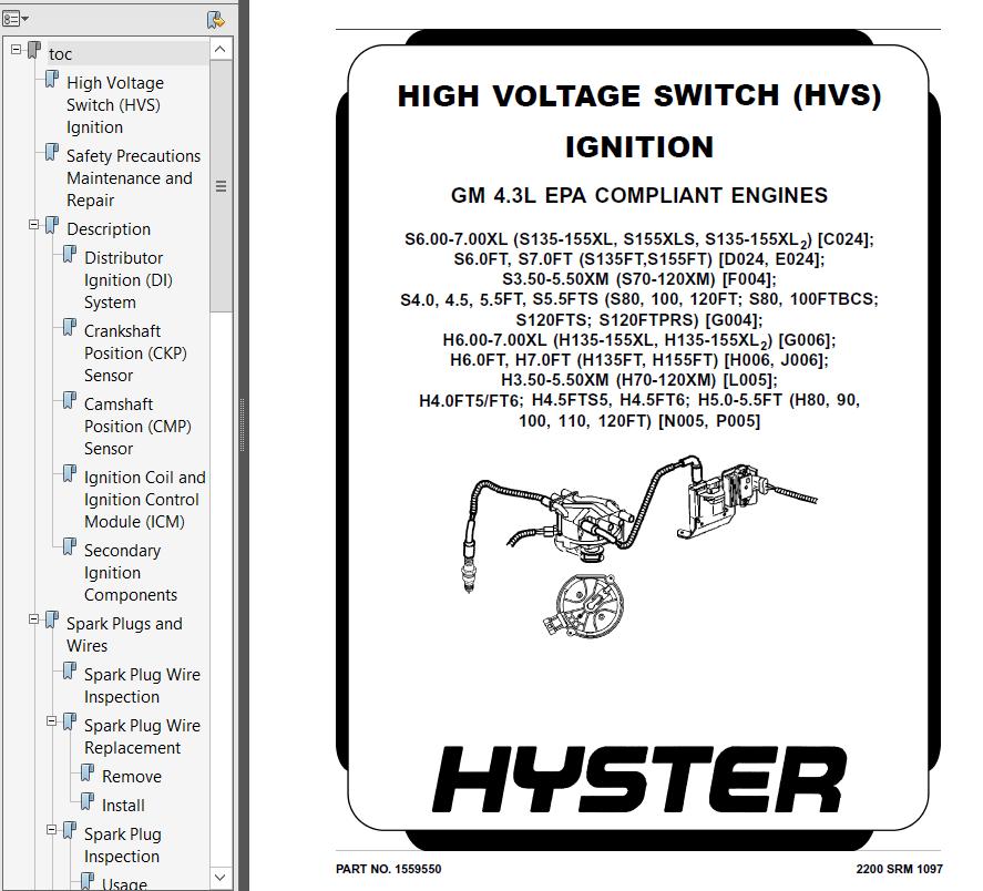 Hyster 120ft parts manual pdf