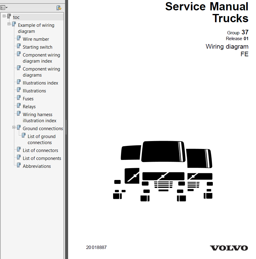 volvo trucks fe wiring diagram service manuals pdf repair manual rh epcatalogs com 2000 Volvo S80 Wiring-Diagram volvo fe wiring diagram