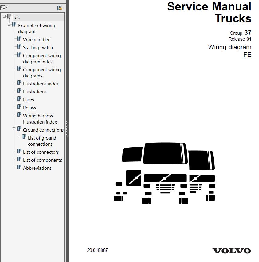 volvo trucks fe wiring diagram service manuals pdf rh epcatalogs com Toyota Noah Service Manual Wiring Diagram tesla model s service manual wiring diagram