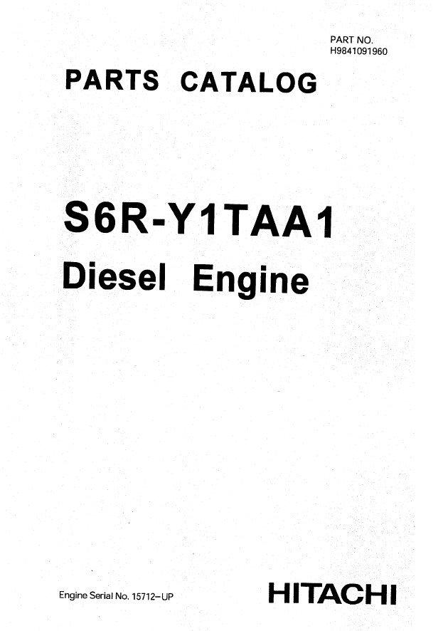 mitsubishi engine s6r  hitachi  set of pdf manuals