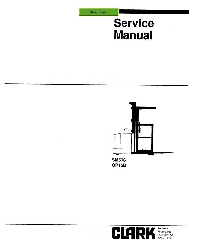 clark op15b sm576 service manual pdf