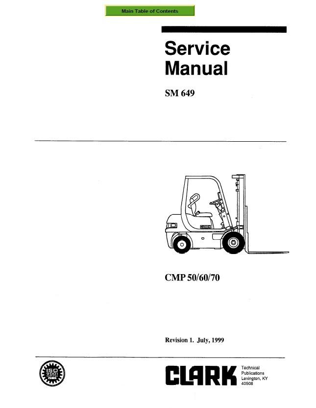 clark cmp 50  60  70 sm649 service manual pdf Clark Transmission Bobcat Wiring Diagram