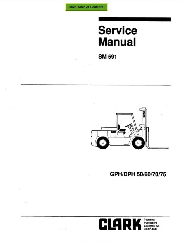 clark gph  dph 50  60  70  75 sm591 service manual pdf