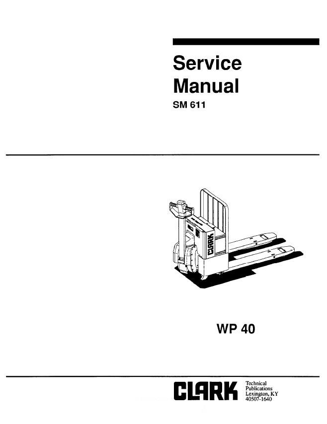 clark-service-manual-wp-401 Wiring Diagram Clark Ewp on