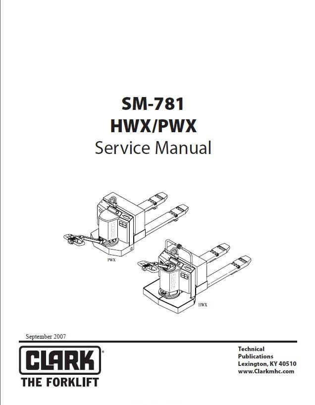 clark hwx  pwx sm781 service manual pdf