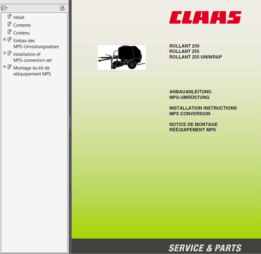 claas rollant 250 rollant 250 roto cut pdf manuals rh epcatalogs com  claas rollant 255 uniwrap manual