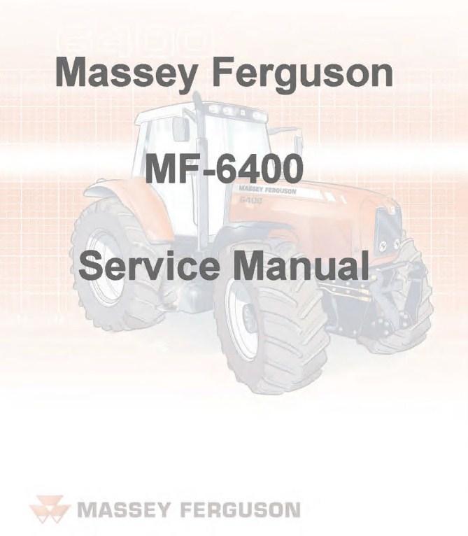 Massey Ferguson MF-6400 Series Service Manual PDF