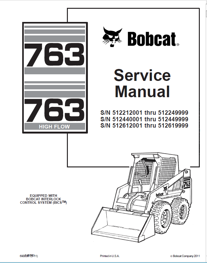 bobcat 763 763 high flow loaders service manual pdf. Black Bedroom Furniture Sets. Home Design Ideas