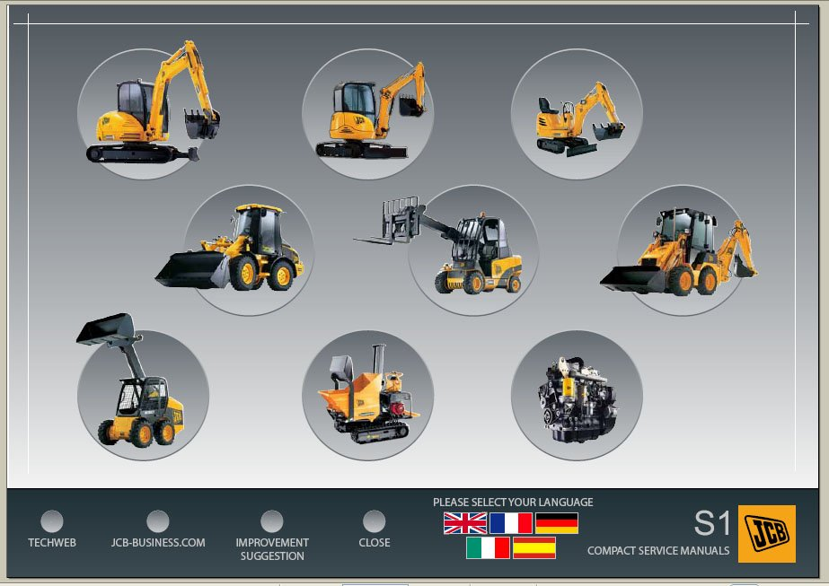 Jcb Electronic Excavator Service Manuals S1 Download
