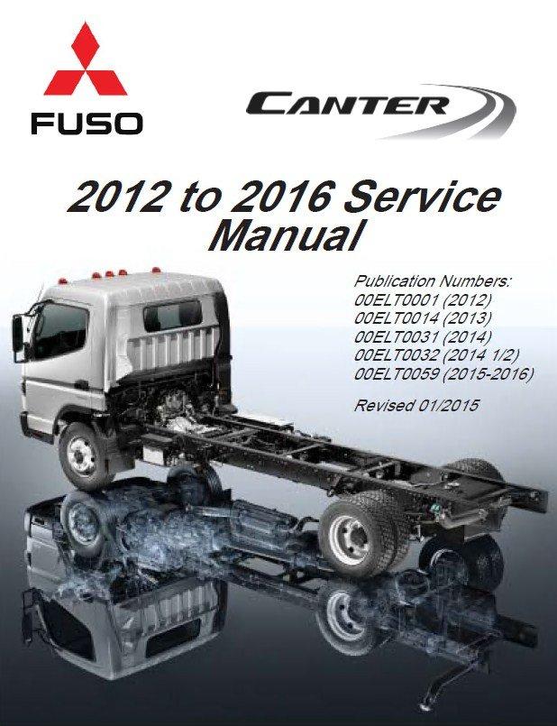 Mitsubishi Fuso Canter 2012-2016 Service Manual PDF