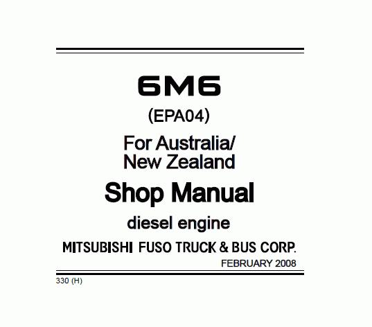 mitsubishi fuso 6m6 repair manual download