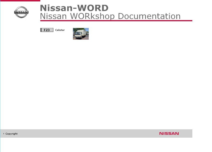 Nissan Cabstar F23 Service Manual
