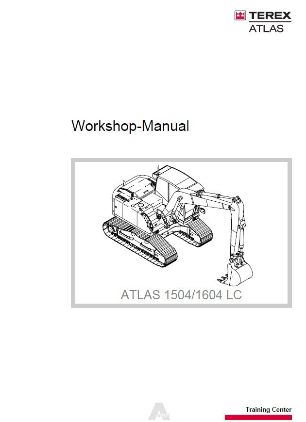 Repair Manual Terex Atlas 1504  1604 Lc Excavator Workshop