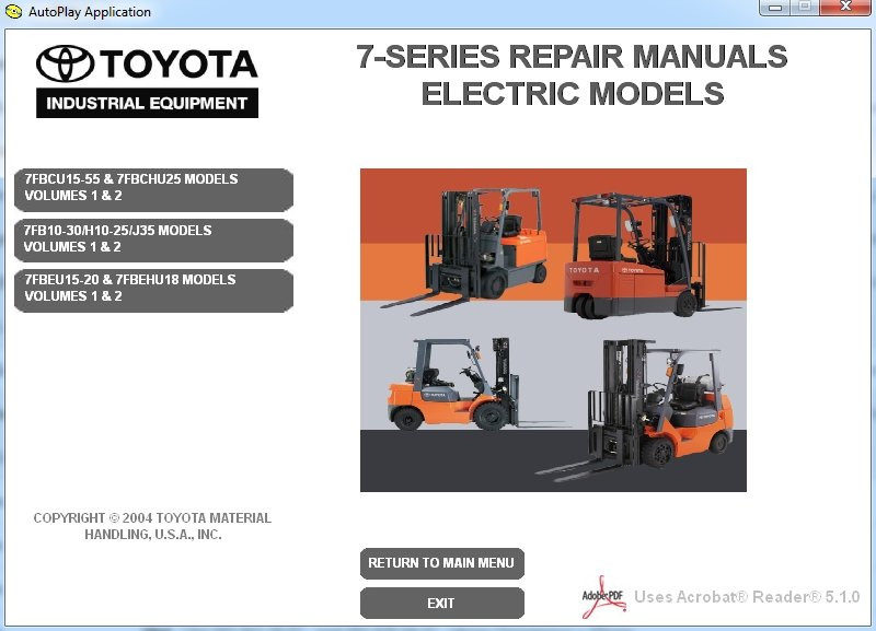 Toyota Forklift 7 Series Repair Manual Download