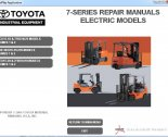 repair manual Toyota Forklift 7-series