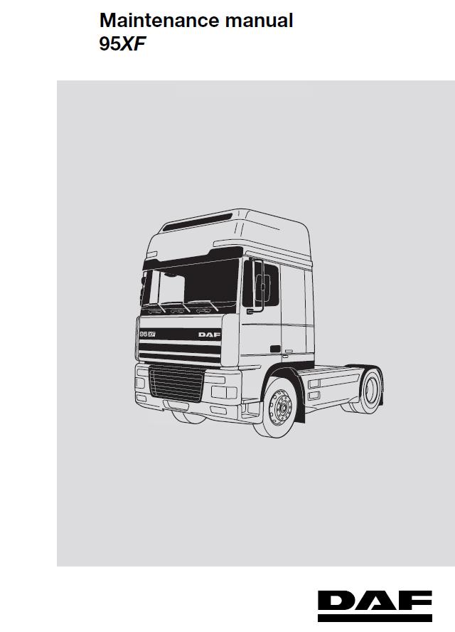 daf 95xf series truck service repair workshop manual pdf rh epcatalogs com DAF XF DAF XF 105