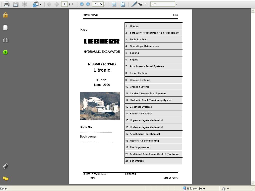 Liebherr Diesel Engines D934 A6/ D936 A6 Service Manual