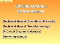 repair manual Hitachi EX75UR-5/75US-5 Excavator Set of PDF Manuals